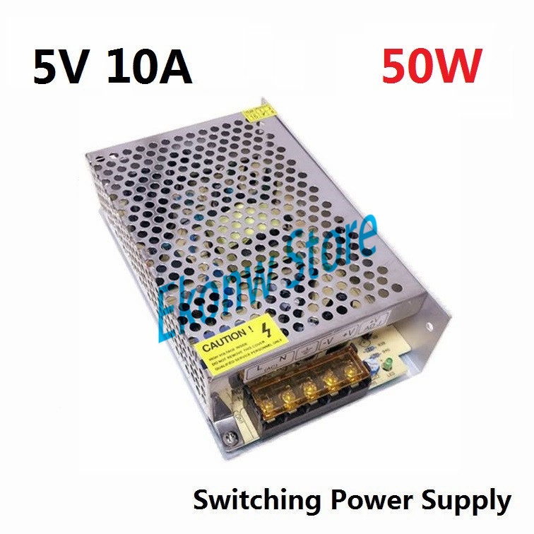 50W 5V 10A Switching Power Supply Factory Outlet SMPS Driver AC110-220V to DC5V Transformer for LED Strip Light Module Display best quality 12v 15a 180w switching power supply driver for led strip ac 100 240v input to dc 12v