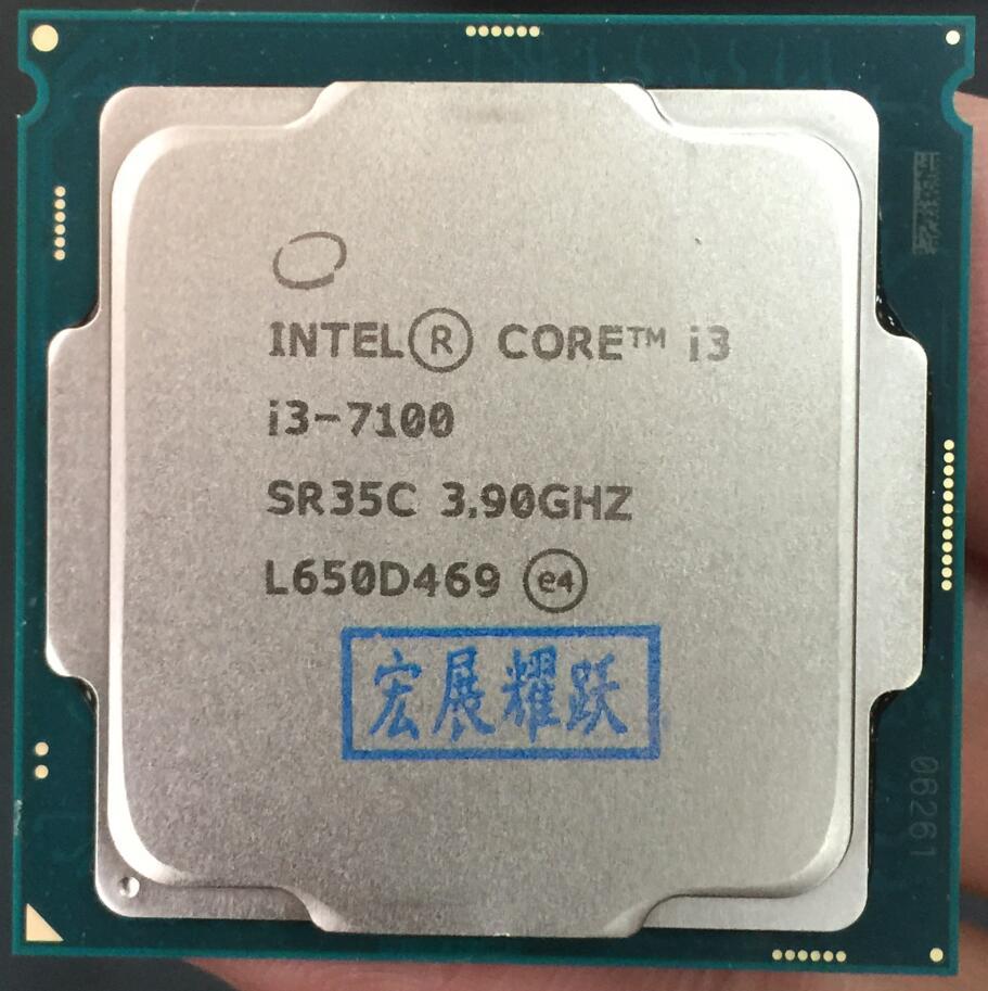 Intel Core i3 7 series PC Computer Desktop Processor I3 7100 I3-7100 CPU LGA 1151-land FC-LGA 14 nanometers Dual-Core цена 2017
