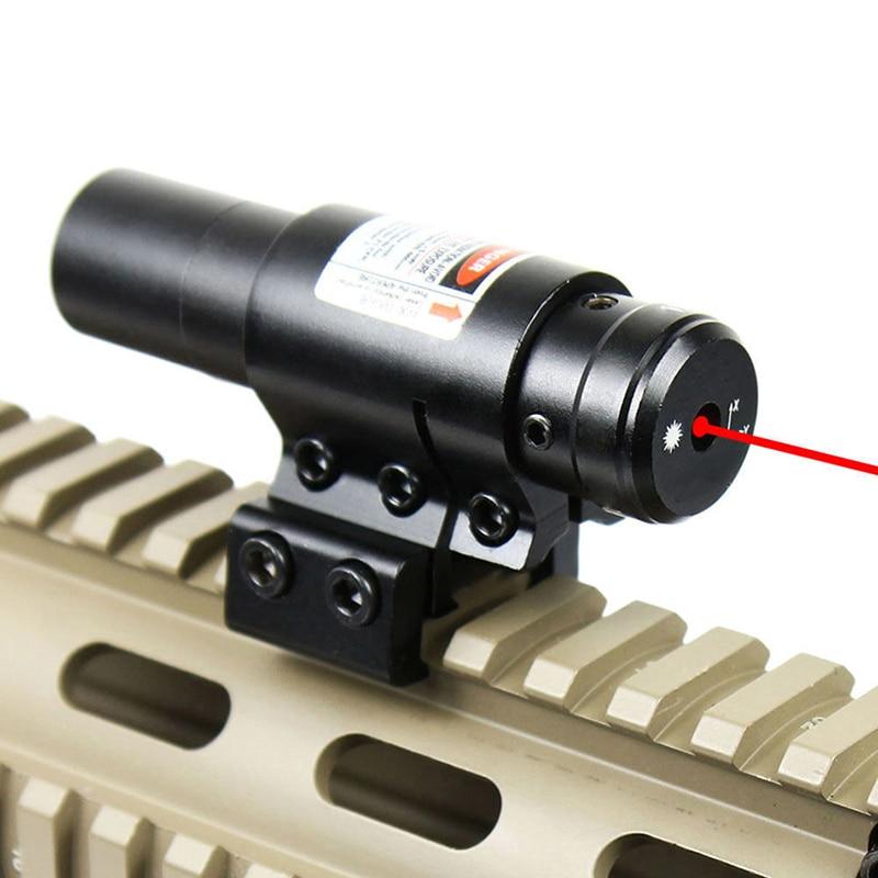 Röd lasersikt med 20mm / 11mm järnvägsjakt Luftningsport Gun Slot - Jakt - Foto 3