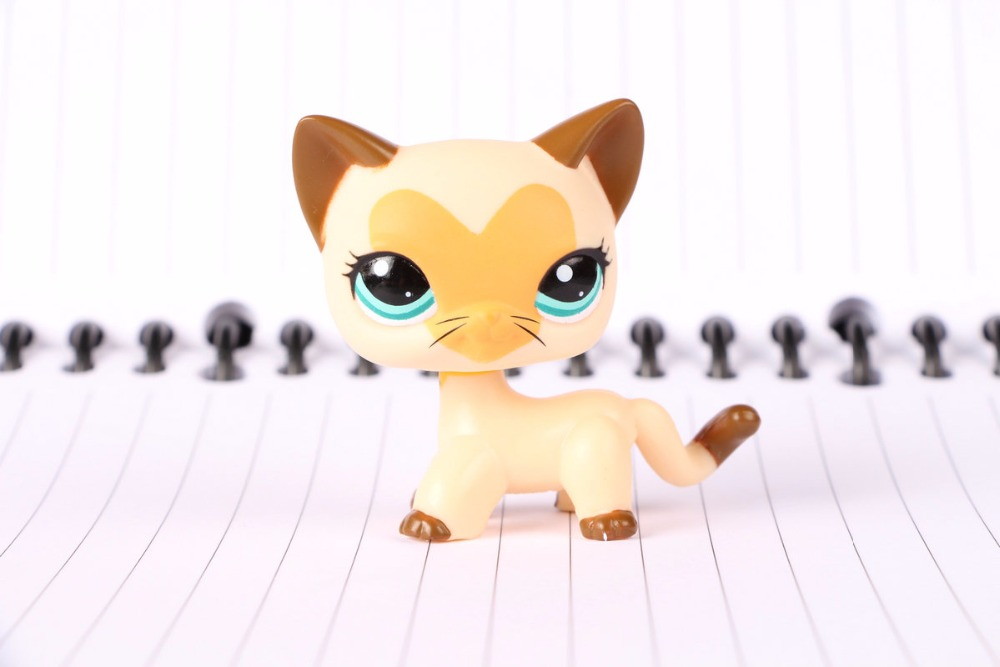 New Pet Collection Figure LPS #3573 Short Hair heart kitty blue eyes Kids Toys lovely pet collection lps figure toy black yellow short hair siamese cat blue eyes nice gift kids