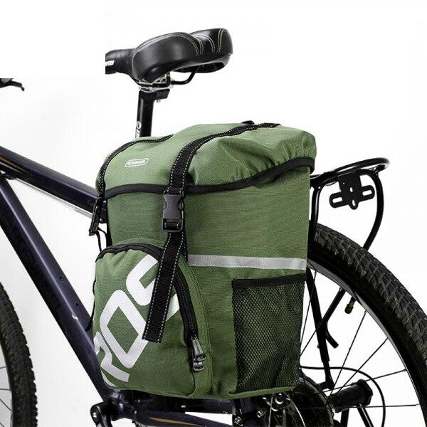 Цена за 15l roswheel водоотталкивающая прочный горной дороге велосипед сумки велоспорт двойного бокового заднего багажника хвост сиденья магистральные сумки паньер
