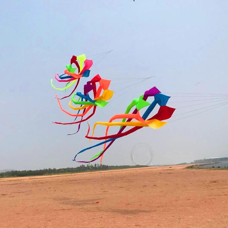 Livraison gratuite haute qualité 6m arc-en-ciel chaussette à vent cerf-volant volant grand cerfs-volants adulte cerf-volant bobine ripstop nylon cerf-volant usine albatros 3d