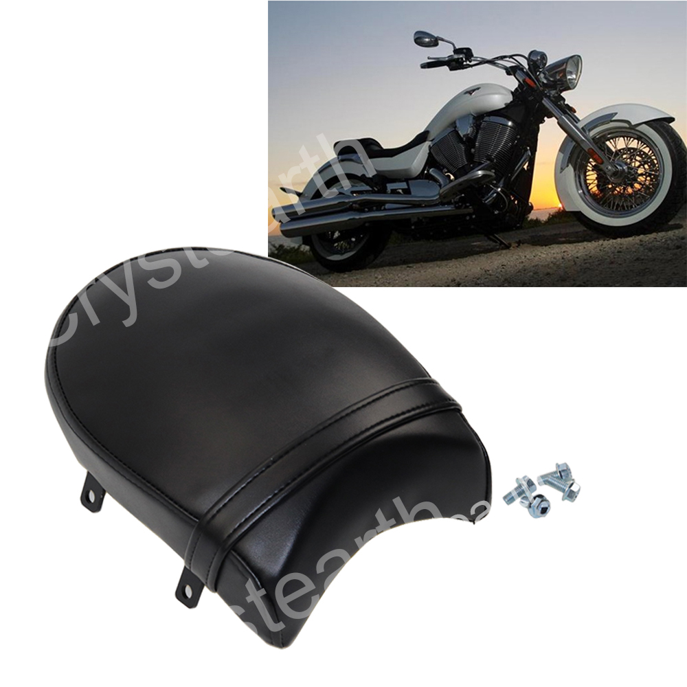 For Victory Vegas 8-Ball High-Ball Zach Ness Cross Country Kingpin Low Deluxe Tour Motorcycle Black Rear Passenger Pillion Seat motorcycle silver for victory cross roads custom cross countr kingpin vegas brake clutch lever set