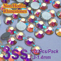 Free Shipping Nail Art  Rhinestone AB Crystal SS3(1.3-1.5MM) 1440pcs/pack Non Hotfix Flatback Crystal Stones