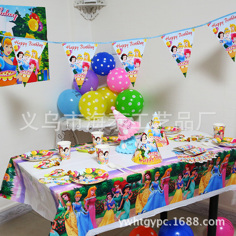 59pcs girl birthday party decoration princess snow white mermaid cinderella 6 people event party. Black Bedroom Furniture Sets. Home Design Ideas