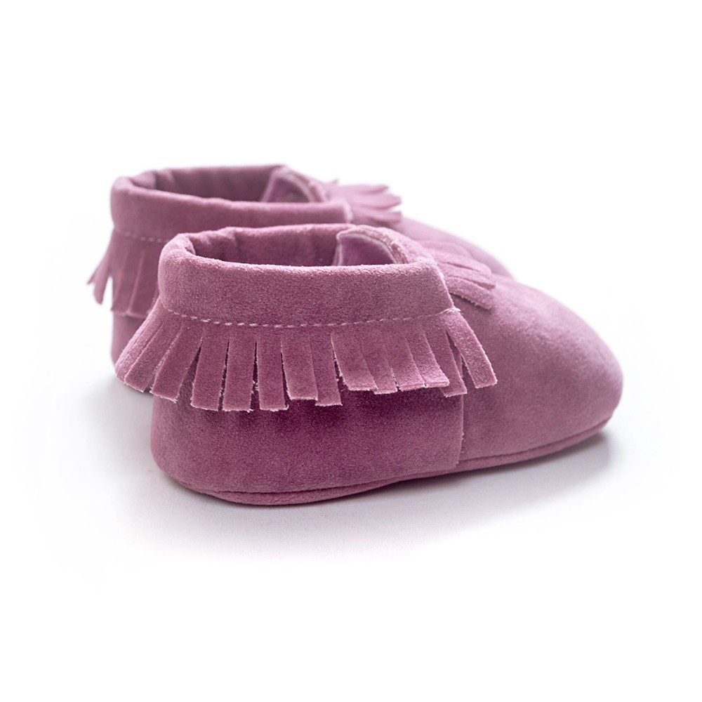 2020 PU Suede Leather Newborn Baby Moccasins Shoes Soft Soled Non-slip Crib First Walker