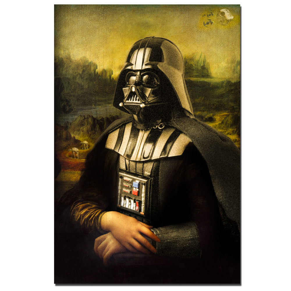 Print darth vader art Star Wars movie poster picture living room ...