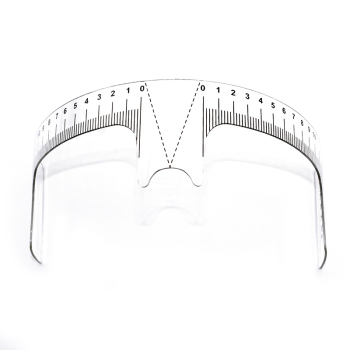 10pcs Eyebrow Grooming Stencil Shaper Ruler Reusable Eyebrow Ruler Measure Tool for Permanent  Tattoo Eyebrows Stencil Template