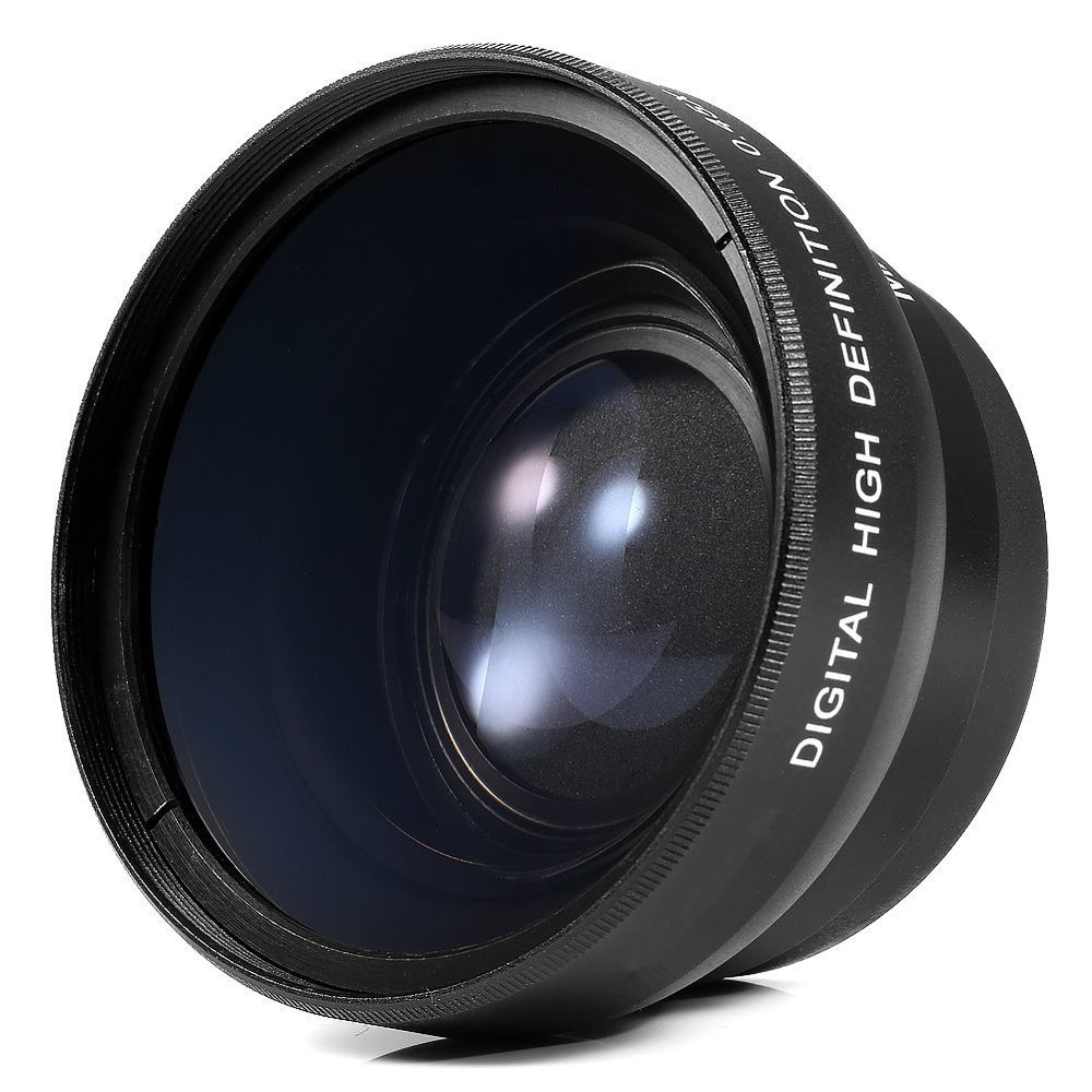 New 55mm wide angle macro lens hd for canon nikon for A new angle salon