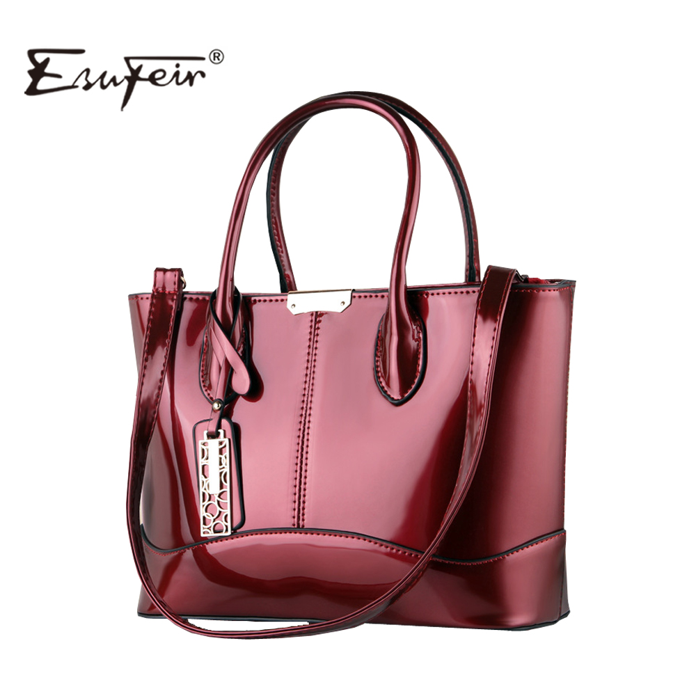 2017 ESUFEIR Fashion Women Bag PU Leather Casual Women Handbag Brand Bag Simple Women Shoulder Bag Paint Women messenger Bag