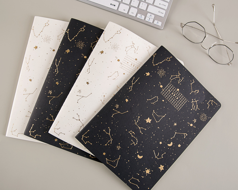 Fantasy Sky Paper Cover Notebook Nice Rosegold Picture Different Types Workbooks Daily Memo For School Students Dairy Homework