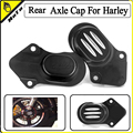 Motorcycle CNC Billet Aluminum Rear Axle Nut Caps Cover For Harley Davidson Sportster XL 883 1200 48 2005-2016 Black