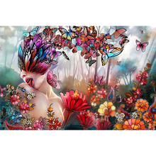 butterfly woman diamond Embroidery diy painting mosaic diamant 3d cross stitch pictures H170
