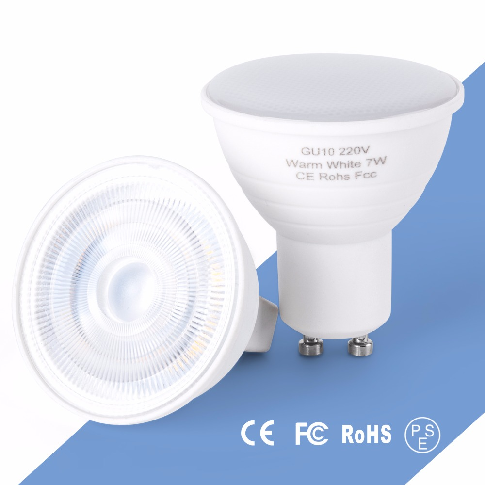 LED Spotlight GU10 Bulb 5W 7W Plastic Aluminum gu 10 Lamp 220V MR16 Spot Light For Downlight Table GU5.3 Ampoule