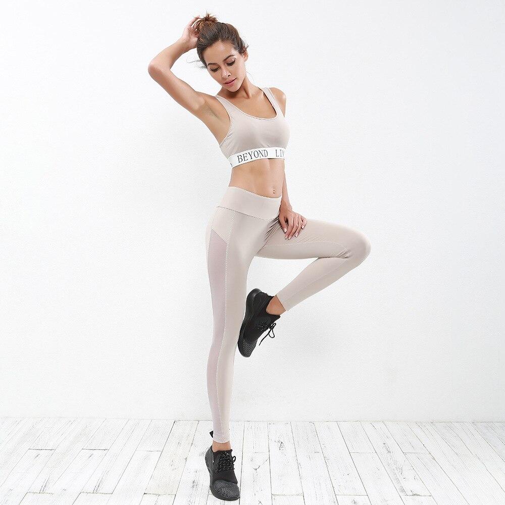 2017 Neue Ankunft Sportswear-set Frauen Yoga Set Sexy Letztere Druckbüstenhalter Und Leggings Frauen Sport Set Trainning & Übung Sets Moderate Kosten