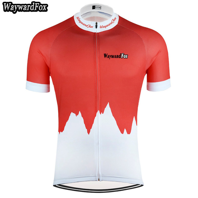 2018 NEW Men s red white cycling jerseys short sleeve cycling clothing  bicycle wear top short Shirt Maillot Roupa Ropa Ciclismo beefb6291