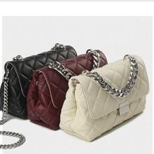 2019 Fashion Genuine leather messenger chain bags brand desinger rhombic women mini Tote Clutch bag winter handbag crossbody