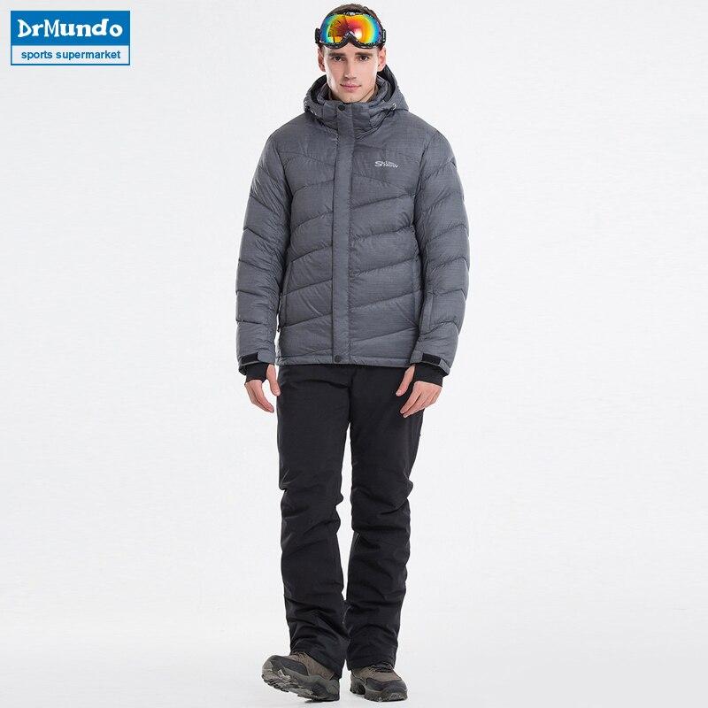 2018 hommes veste de Ski ensembles Snowboard vêtements chaud coupe-vent imperméable Ski-wear plein air Sport porter Ski costumes homme veste