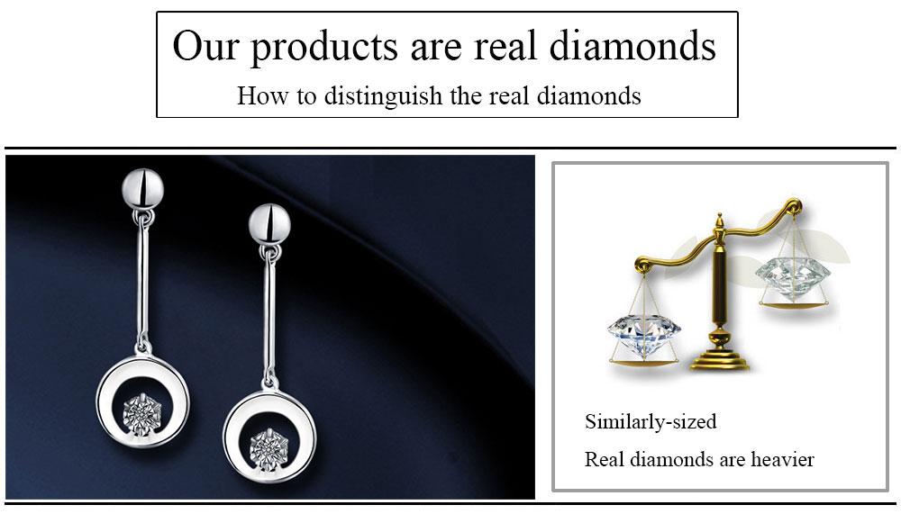 silver diamond earrings CAE01844SA (19)