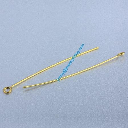 Ювелирных Изделий выводы Глаз Медными Штырьками Pins; Шарф Pins выводы 0.6*45 мм