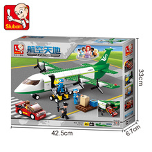 B0371 383pcs City Planes Airbus Airport Airplane Aircraft Model Building Blocks Bricks Set Toy City Compatible with Legoe