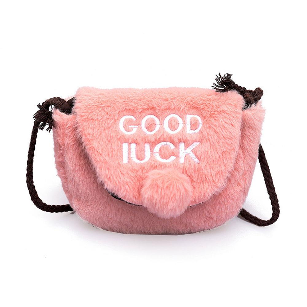 Inclined Shoulder Bags Satchel Plush Bag Fashion Cotton 4 Color Bank Card Mobile Phone Bag Tourism