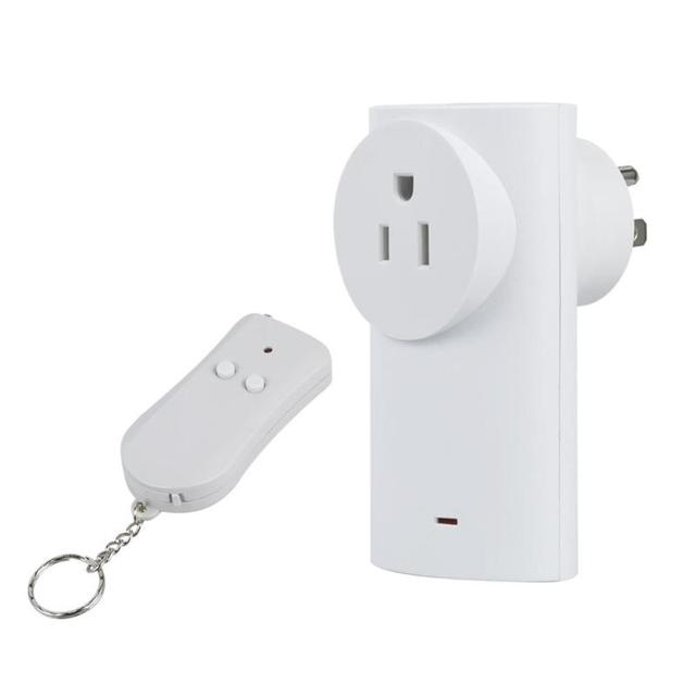 US Standard 433MHz RF Wireless Outlet Indoor Switch Socket Receiver ...