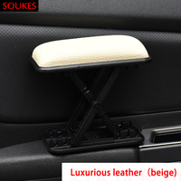 Car Modified Driver's Left Hand Adjustable Armrest Pad For Citroen C5 C4 C3 Mini Cooper Opel Astra H G J Vectra C Saab