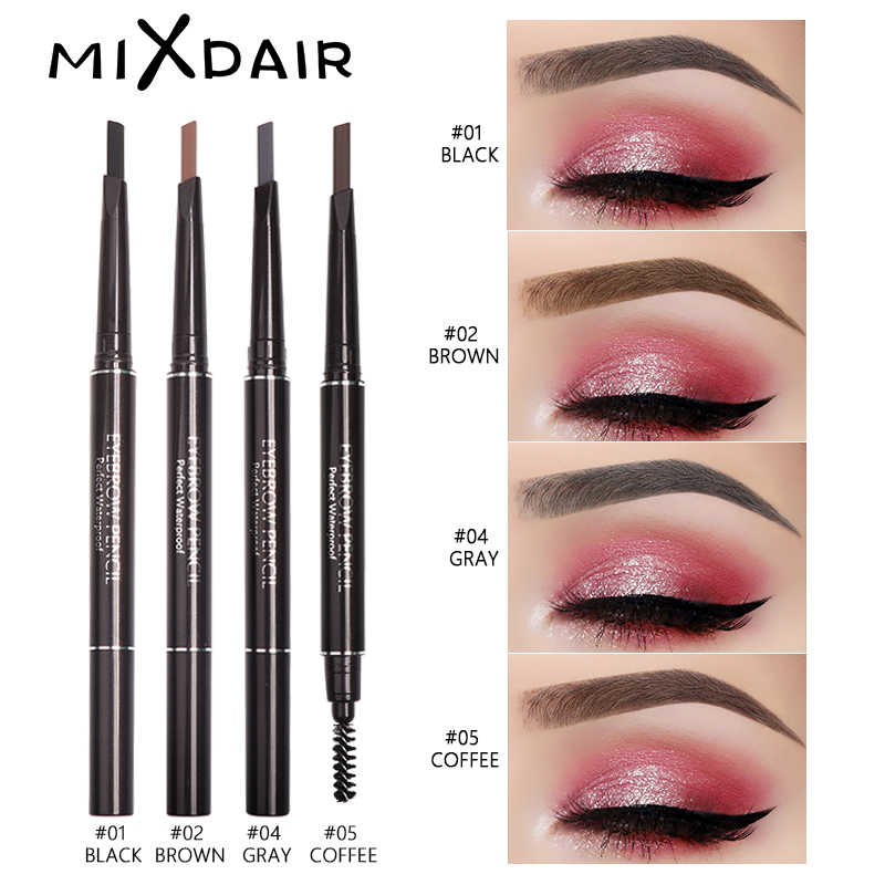 MIXDAIR Wenkbrauw Pen 4 Kleuren Double Ended Wenkbrauwpotlood Waterdicht Langdurige Eye Brow Enhancers Wenkbrauw Tatoo Pen Make-Up