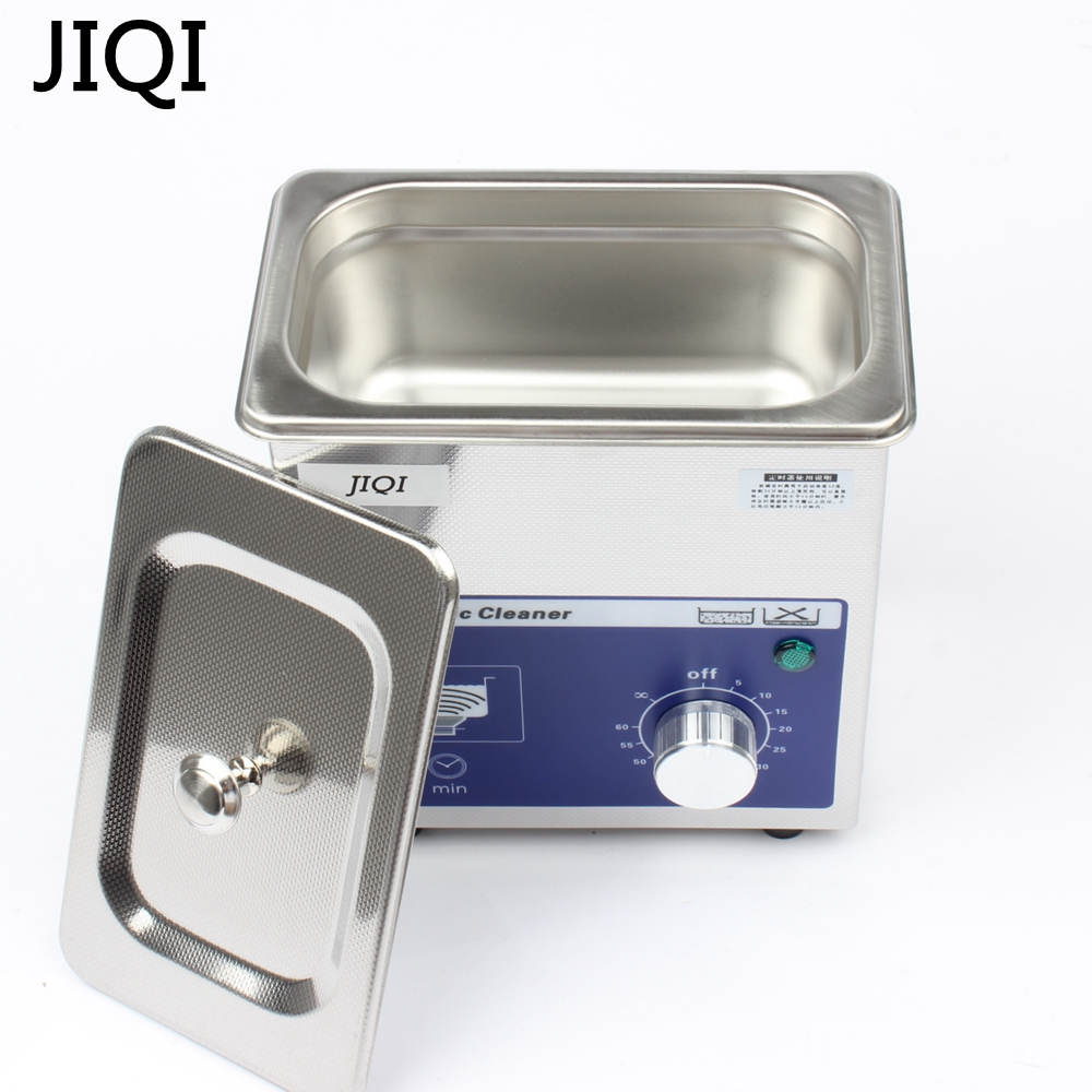JIQI Ultrasonic cleaner timer 80w 0.7L 40KHZ for Household glasses jewelry Dental Watch Toothbrushes Cleaning Tool Small high quality ultrasonic cleaner jewelry dental watch glasses toothbrushes cleaning tool ultrasonic washing machine cleaning