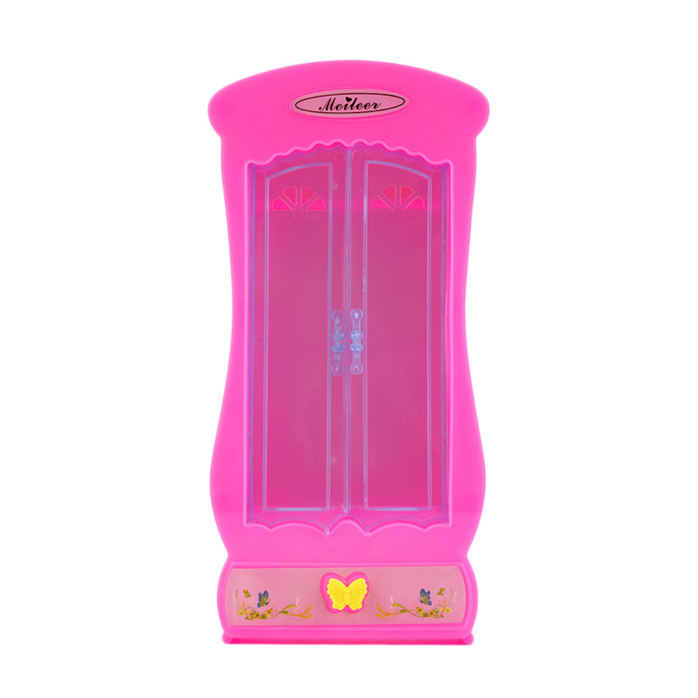 ! Cute Cartoon Princess Kids Toys Butterfly Living Furniture Mini Wardrobe  Closet Doll Dream House Toy Pink New Hot! In Dolls Accessories From Toys ...