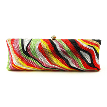 Long Square Box Clutch Ladies Hand Bags for Party and Wedding Designer Handbags High Quality Vintage Bag Party Crystal Purse