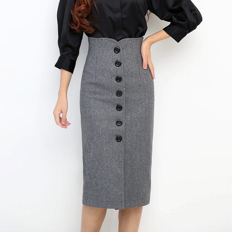 pencil skirt top autumn winter new novelty solid