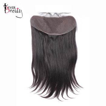 13*6 Lace Frontal Closure Straight Brazilian Human Hair Ear To Ear Lace Frontal Closure With Baby Hair Ever Beauty Remy Hair