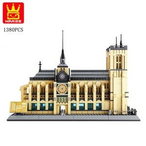 Image 3 - Wange 5210 serie de arquitectura el Notre Dame de modelo París juego de bloques de construcción punto de referencia clásico juguetes educativos para niños