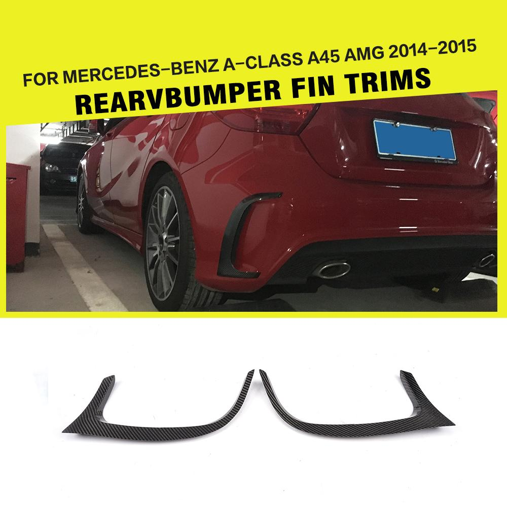 Car-Styling Carbon Fiber / FRP Auto Rear Bumper Vents Exterior Trims for Benz A-class W176 A45 AMG Bumper Only 2014 2015 платье fred perry р 16 gb 52 ru