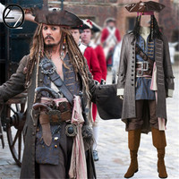 Pirates Of The Caribbean Captain Jack Sparrow Cosplay Costume Halloween Costumes For Adult Men Sparrow Costume Custom Made Suits