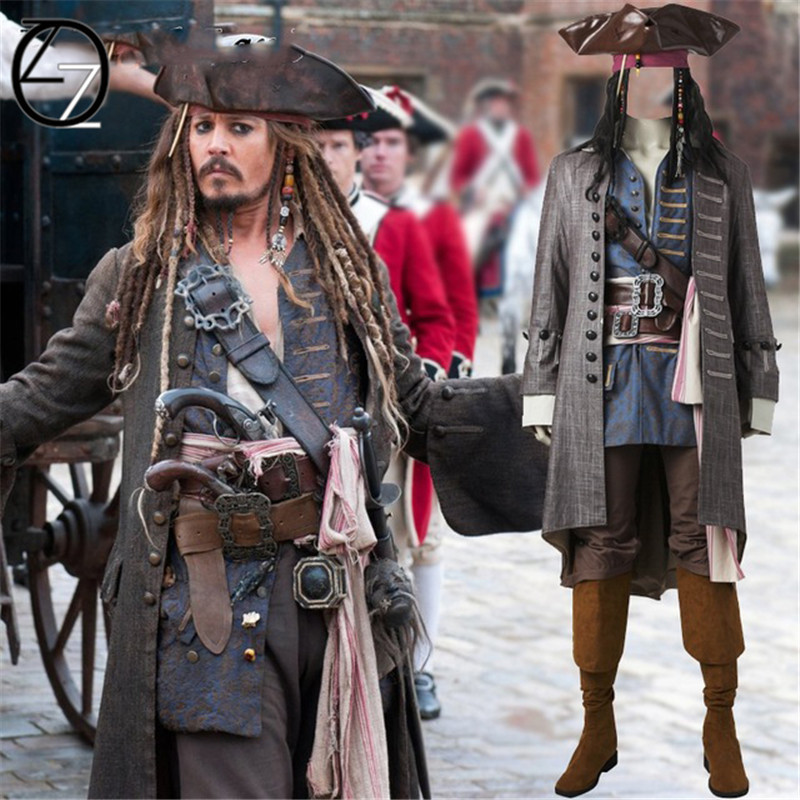 CARAIBI Deluxe Pirata Cappello Con Capelli /& Perline Jack Sparrow Costume Accessorio