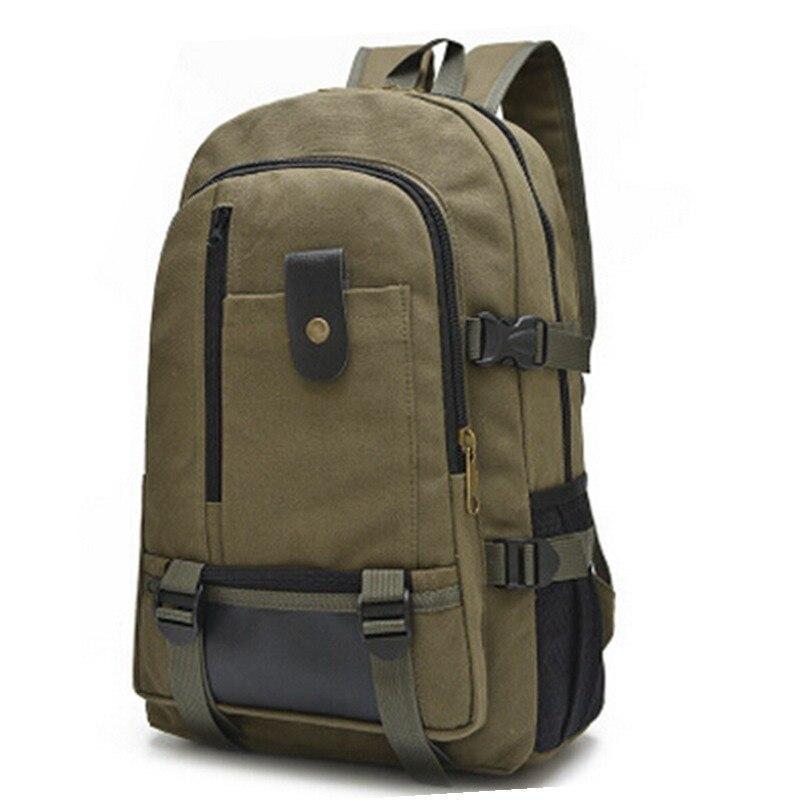 d162630bc815 Бесплатная доставка 2014 Мода Холст Школьные рюкзаки мужчины багажа и  путешествия Туризм Сумки военной техники Рюкзак Mochila