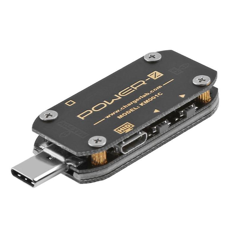POWER-Z USB PD testeur chargeur rapide tension courant ondulation double type-c KM001C mètre batterie externe détecteur de tension mètres