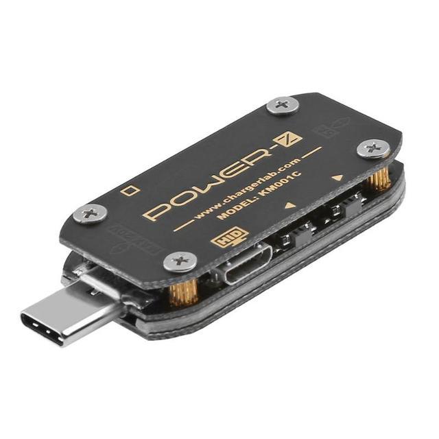 Мощность-Z USB PD тестер быстрое зарядное устройство Напряжение Ток пульсация двойной тип-c KM001C метр Индикатор портативного зарядного устройства напряжение метров