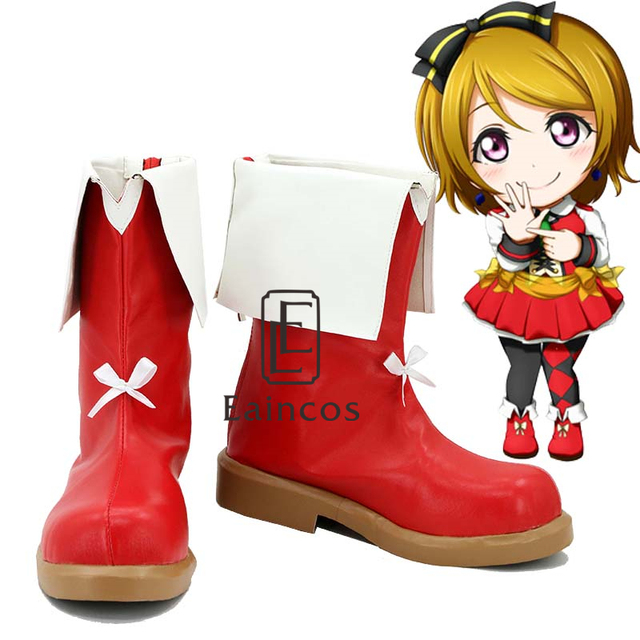 school idol project sunny day song koizumi hanayo shoes cosplay christmas party boots - Red Shoes Christmas Song