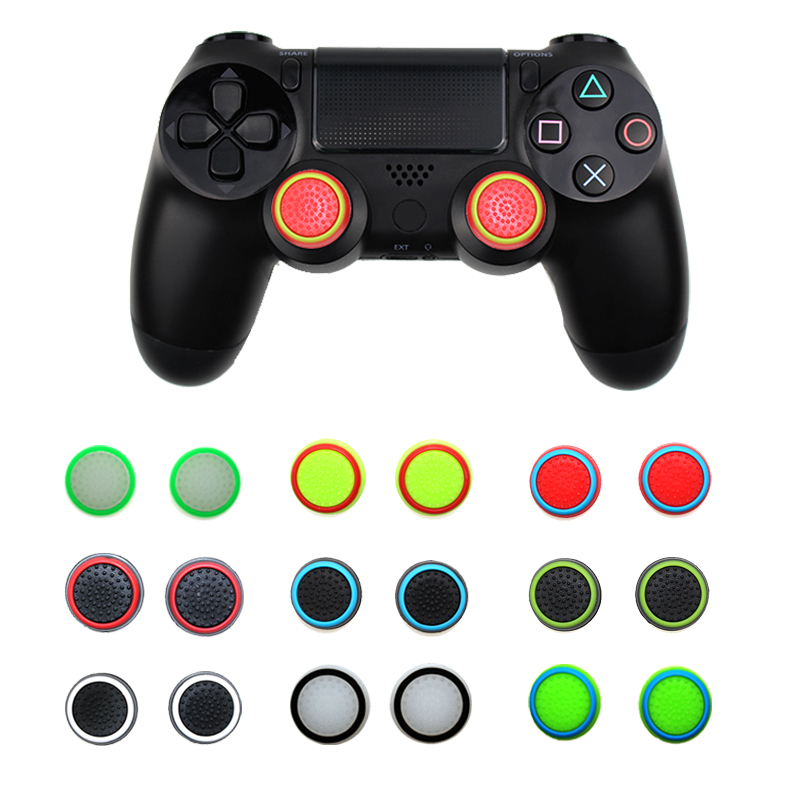 Black//Green,Black//Blue Insten Silicone Analog Thumb Grip Stick Cover,Game Remote Joystick Cap for PS4 Dualshock 4//PS3 Dualshock 3// PS2 Dualshock//Xbox One Wireless//Xbox 360 Controllers 4 Pair//8 Pcs