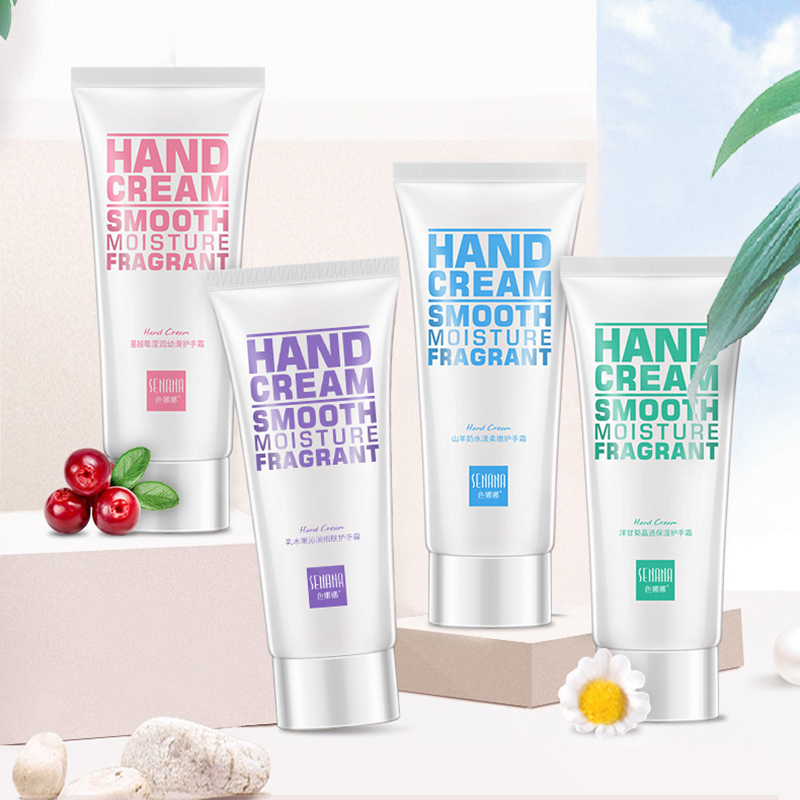 1pcs Shea/Cranberry /Goat Milk/Chamomile Anti-Dryness Moisturizing Hydrating Hand Cream For Winter Hand Care Nourishing