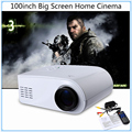 X6 Mini Pico Proyectores de Vídeo 3D 80 Lúmenes HD de Cine En casa Proyector Multimedia Home Theater Proyector LED Full HD 1080 P