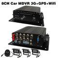 8CH AHD MDVR 3G GPS WiFi H.264 Security Surveillance Car, Truck, Bus DVR IR Cameras System (4CH AHD Car DVR Optional)