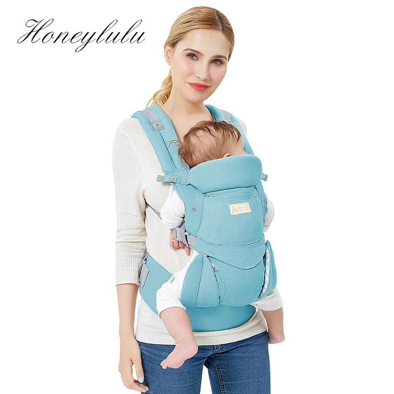 Honeylulu Baby Carrier Kangaroo Four Seasons Sling Facing Baby Waist Carrier Ergoryukzak Hipseat 3-48 Months Stool For Travel