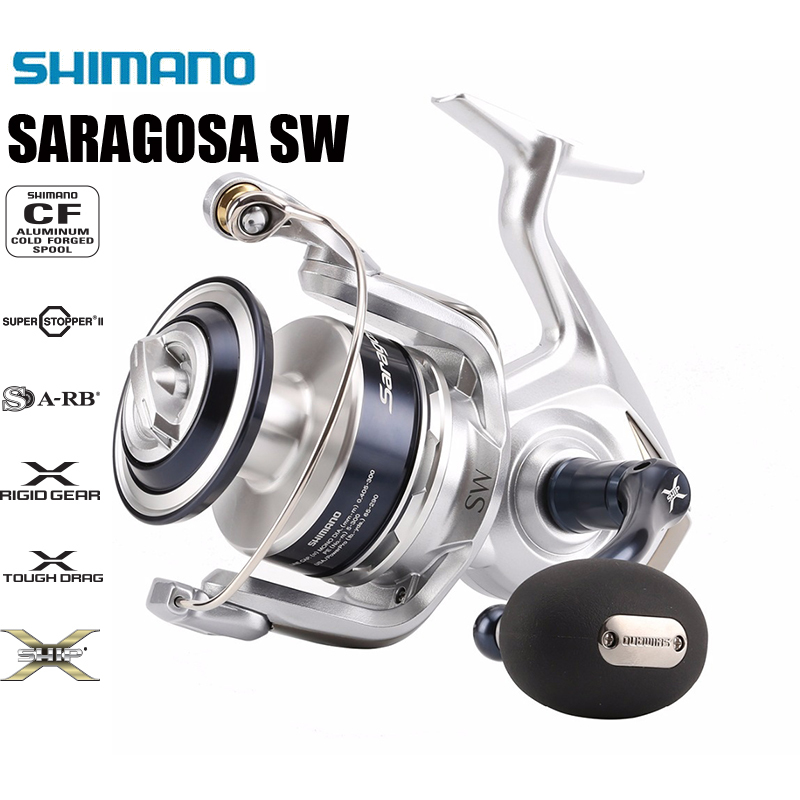 SHIMANO SARAGOSA SW 5000 6000 8000 10000 20000 25000 22 44 LB Drag Max Management System