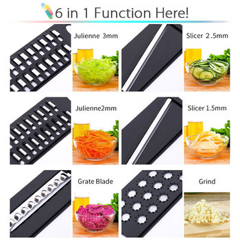 Vegetable Cutter with Steel Blade Mandoline Slicer Potato Peeler Carrot Cheese Grater vegetable slicer Kitchen Accessories 4