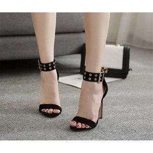 Image 3 - Женские сандалии 2019, летняя модная повседневная женская обувь, очень высокие сексуальные туфли Heeel OL